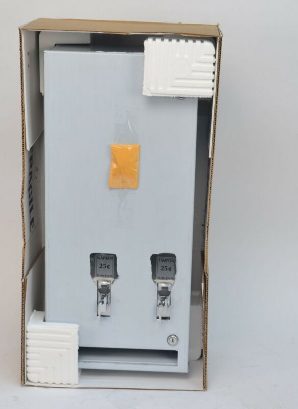 NEW AJW U526-SM-25 Sanitary Napkin/Tampon Dispenser Surface Mount 25 Cent