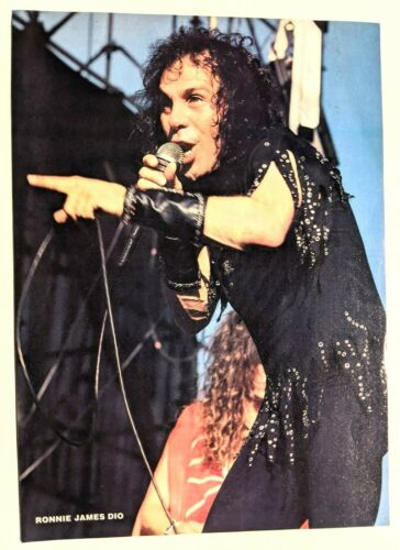 RONNIE JAMES DIO LIVE / MAGAZINE FULL PAGE PINUP POSTER CLIPPING (11)