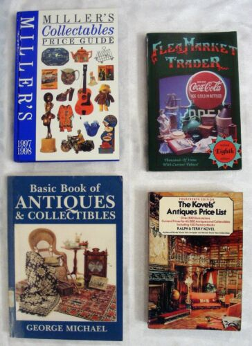 4 Books Antiques Collectibles * Flea Market Price Guides * Millers, Kovels, more