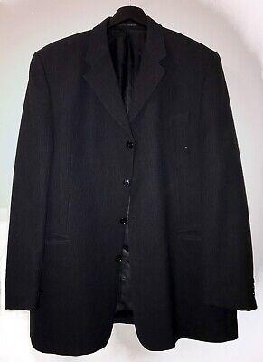 Mens ZARA MAN Black Formal Evening Blazer Jacket UK XXL 112cm 44R comprar usado  Enviando para Brazil
