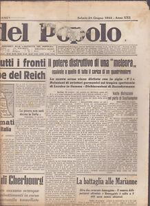 GAZZETTA-DEL-POPOLO-24-GIUGNO-1944-EDIZIONE-MATTINO-WWII-WW2