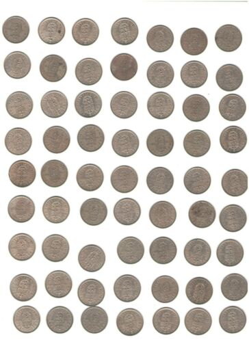 Great Britain Coin Lot of 63 Shillings (Not Silver)