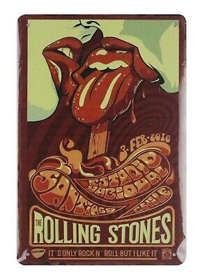 US SELLER, Rolling Stones rock n roll band tin metal sign home furnishing shops (Rock N Roll Home Decor)