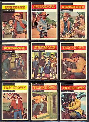 1958 TOPPS GUNSMOKE TV Westerns PARTIAL SET LOT 40/71 James arness Steve McQueen