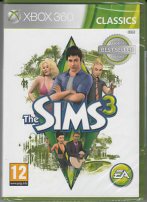 The Sims 3  Xbox 360 Brand New Factory Sealed