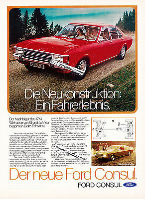 Ford-Consul-1972-Reklame-Werbung-genuine Advertising - nl-Versandhandel