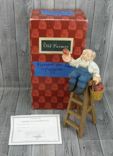 🔥David Frykman 1995 The Old Farmer DF3012 Figurine with COA Ladder🔥