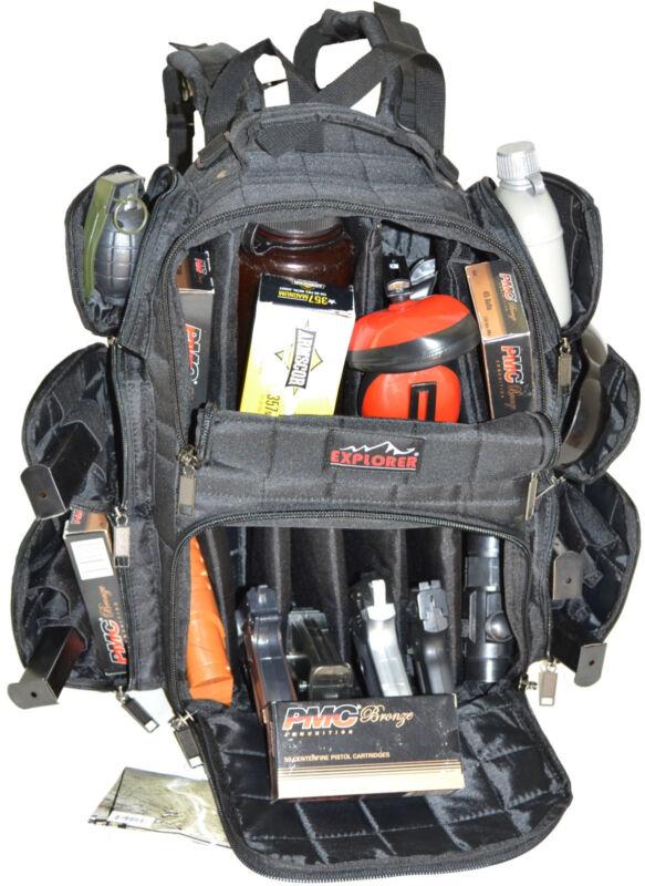 Black - Explorer Tactical Range Backpack Gun Pistol Survival Emergency Kit