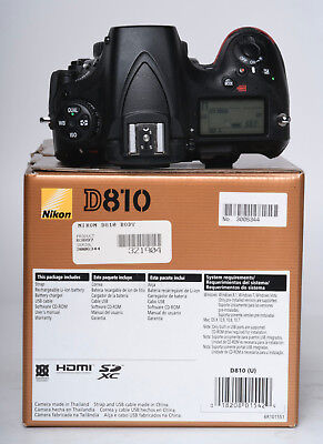 NIKON D810, USA BODY ONLY, WITH ALL THAT CAME WITH IT WHEN NEW