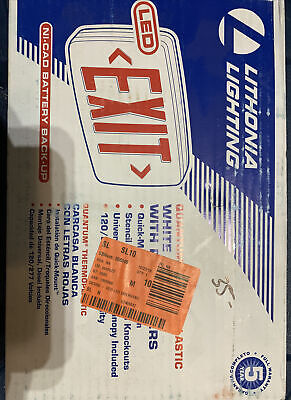 Lithonia Lighting Quantum Thermoplastic Led Emergency Exit Sign 142an5 Red