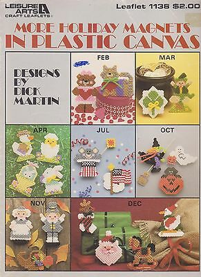 Plastic Canvas Pattern Book More Holiday Magnets Leisure Arts 1138