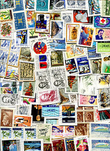 Iceland Lot of 100 Stamps on Paper Kiloware