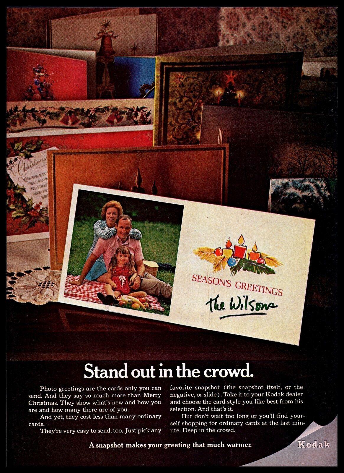 1969 Kodak Vintage PRINT AD Seasons Greetings Photo Card Wilsons ...