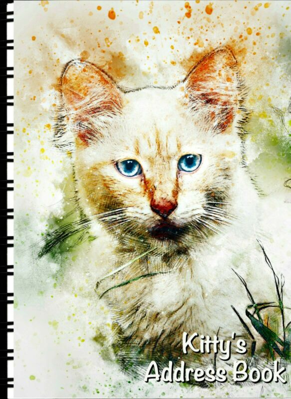 Address Book with Web page Pretty Kitty