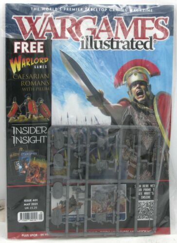 Wargames Illustrated Issue 401 (May 2021) Magazine with Caesarian Roman Sprue