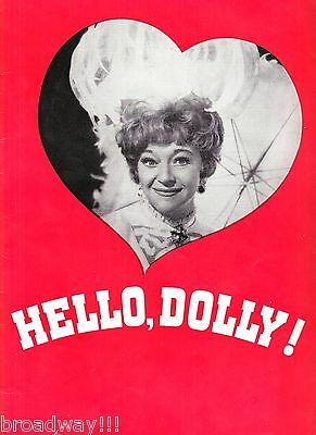 "Dora Bryan ""HELLO DOLLY"" Jerry Herman / Gower Champion 1966 London Program"