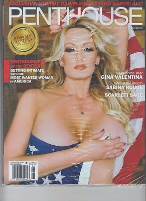 STORMY DANIELS PENTHOUSE MAGAZINE MAY JUNE 2018 NO LABEL IN SEALED BAG