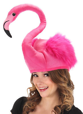 Neon Pink Flamingo Costume Plush˜Hat by - Flamingo Halloween Costumes