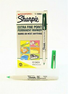 Genuine Sharpie 35004 Extra Fine Point Green 12-count Permanent Marker Pens