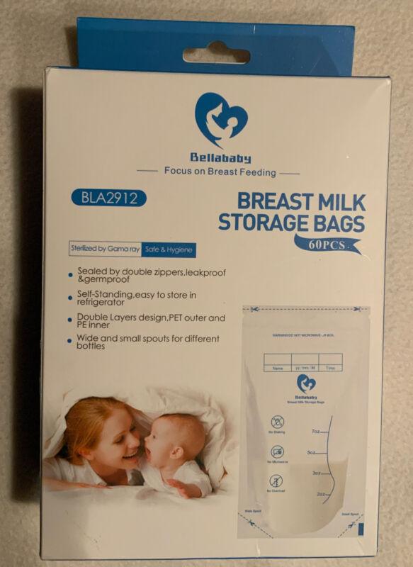 Bellababy Breast Milk Storage Bags, 60 count
