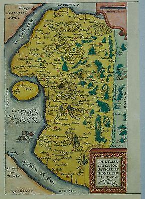 Thietmarsiae, Holsaticae ... - Abraham Ortelius - Dithmarschen - Original 1574