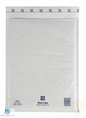 25 H5 H/5 White 270 x 360 mm Padded Bubble Wrap Mail Lite Postal Bag Envelopes