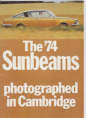 SUNBEAM ALPINE,RAPIER & H120 Brochure - 1974 - #C6014/1/30