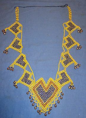 """Necklace Beaded Afghan Kuchi Tribal 12"""" with ties"""