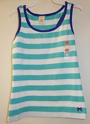 New W/Tags  ~  Gymboree Bright and Beachy Green/White Stripe Top ~  8 Yr.