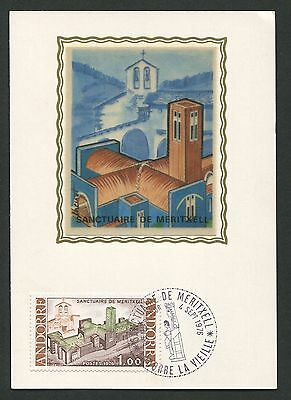 ANDORRA MK 1976 KIRCHE MERITXELL CHURCH MAXIMUMKARTE MAXIMUM CARD MC CM d334