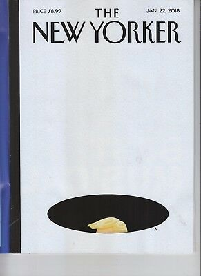 DONALD TRUMP THE NEW YORKER MAGAZINE JANUARY 22 2018 NO LABEL IN THE HOLE