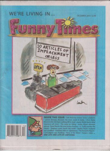 DONALD TRUMP FUNNY TIMES MAGAZINE DECEMBER 2019 NO LABEL 10 ARTICLES IMPEACHMENT