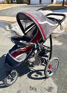 Graco Jogger Stroller + car seat & base