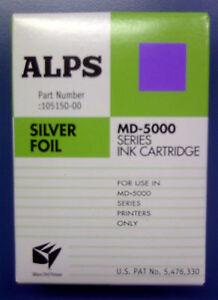 Alps MD Printer Ink Cartridge - Silver Foil 105150-00