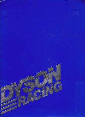 1989 JAMES WEAVER DYSON RACING INDY CAR RACING PRESS KIT FREE SHIPPING IN USA