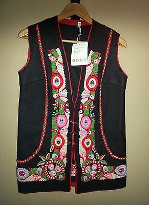 Absolutely Gorgeous!!! Hungarian Folk Embroidered Women's Tunic-Length Vest NWT