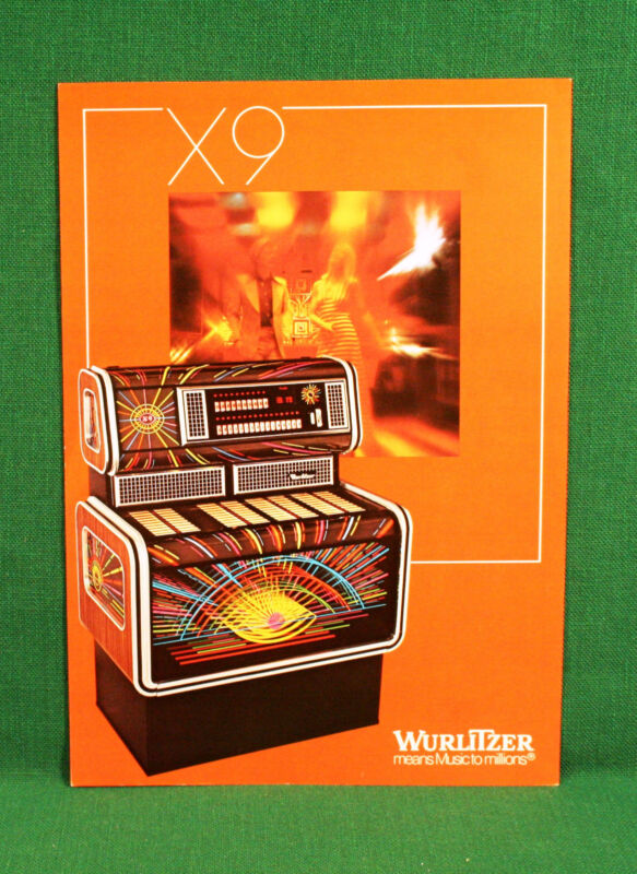 Original Wurlitzer X9 Jukebox Brochure