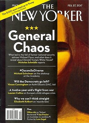 THE NEW YORKER February 27 2017 General Chaos Michael Flynn Donald Trump Oscars