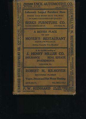 Lebanon PA City Directory 1926 includes Annville Myerstwon Palmyra Pennsylvania for sale  Royal Oak