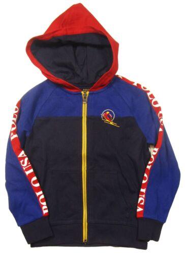 Polo Ralph Lauren Boys Blue Colorblock Downhill Skier Full Zip Jacket