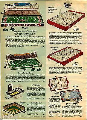 1976 Paper Ad Tabletop Game Super Bowl Steelers Vikings Hockey East West
