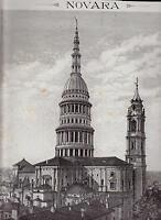 Novara Xilografia La Chiesa Di San Gaudenzio - Le Cento Citta' D' Italia 1889 -  - ebay.it