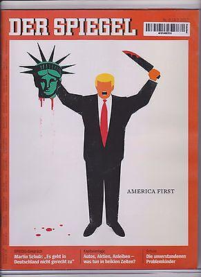 2017 DONALD TRUMP COVER ~ DER SPIEGEL MAGAZINE GERMANY ~ AMERICA FIRST ~QUANTITY