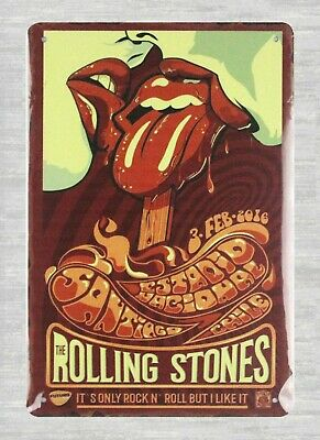 US Seller- good home decor Rolling Stones rock n roll band tin metal sign (Rock N Roll Home Decor)