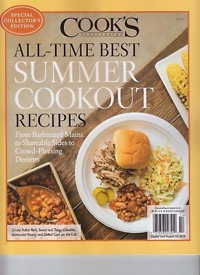 COOK'S ILLUSTRATED ALL-TIME BEST SUMMER COOKOUT RECIPES MAGAZINE