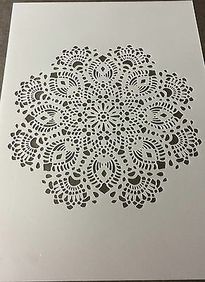 Lace Style Detailed Mylar Reusable Stencil Airbrush Painting Art Craft DIY home