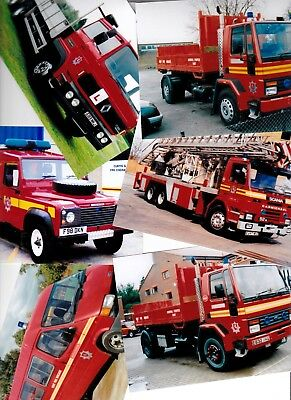 Six - 6x4 Colour Photos of Older Special Fire Appliances from KENT -  Six Photos