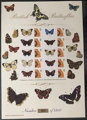 2008 GB British Butterflies History of Britain 18 Bradbury Smilers sheet