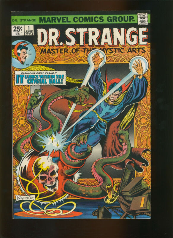 Doctor Strange #1 (Jun 1974, Marvel) cover detached from top staple.
