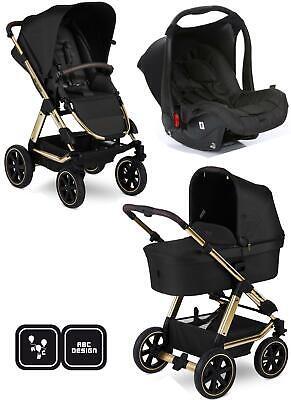 ABC Design Viper 4 Diamond Kinderwagen 3in1 Set champagne mit Babyschale